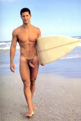 Swinging dick on a #nude surfer .. #sand .. #surf. ||  #HunkFinder