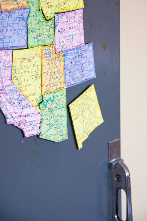 (via the wright house: Locker Front Magnet Board)