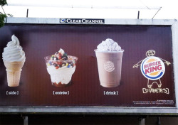 side, entree, drink, diabetes (via The Consumerist)