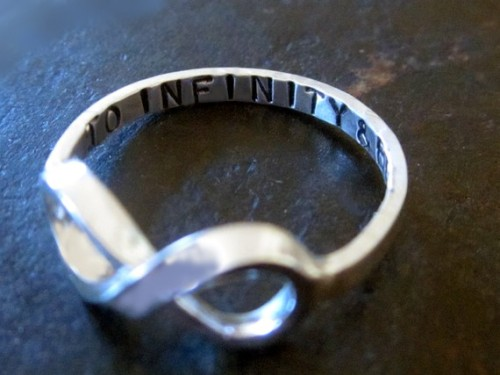 "My sister spotted this ring in the ""likes"" of my blog and wanted to know where she could get one. A little bit of digging and I've found it! And of course I have to have it. As Buzz Lightyear would say, ""To infinity! And beyond!"" The perfect way to love like a Space Ranger— adorable and a little bit nerdy. But really, how sweet is it?"