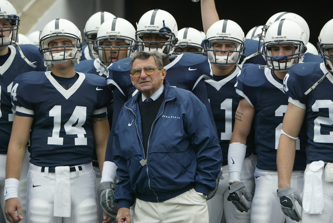 "nationalpostsports: 'I wish I had done more'Penn State football coach Joe Paterno will retire at the end of the season, his long and illustrious career brought down because he failed to do all he could about an allegation of child sex abuse against a former assistant.""This is a tragedy,"" Paterno said. ""It is one of the great sorrows of my life. With the benefit of hindsight, I wish I had done more."" (Photo by Doug Pensinger/Getty Images)"