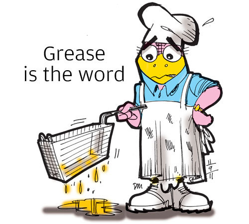 Grease is the word • Grease thefts have been on the rise since the introduction of biofuels to the market once dominated by animal feed and soap industries. Combating the thefts is difficult because the penalties are minimal despite environmental and financial concerns, said Tom Cook, president of the National Renderers Association.