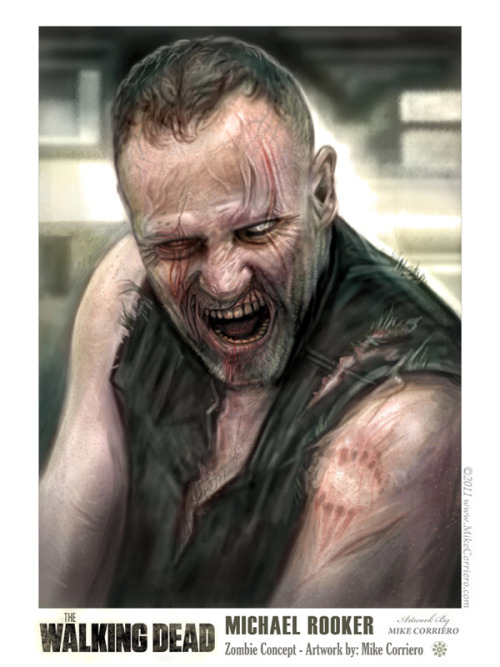 "thewalkingdead-latinoamerica:  ""Zombie Merle"" por Mike Corriero  wicked!"