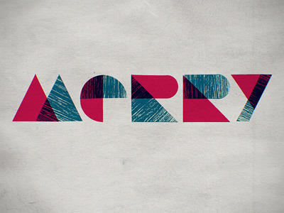 Shape typeface with texture by Tom Creighton.