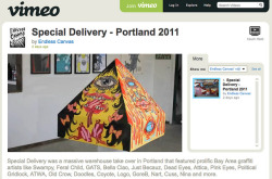 Special Delivery Portland - Video on Vimeo on Flickr.Via Flickr: We recently set up an account at: www.Vimeo.com/endlesscanvas View the video at: vimeo.com/31766611 Big thanks to Nuclear Winter for editing this video.
