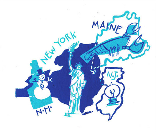 Illustration by Marilena Perilli  Shout out to the Northeast!