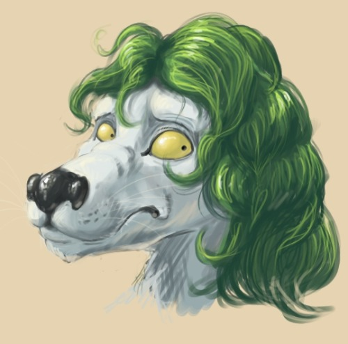 A Speedpaint character head for a friend.  Digital, GIMP. 1hr