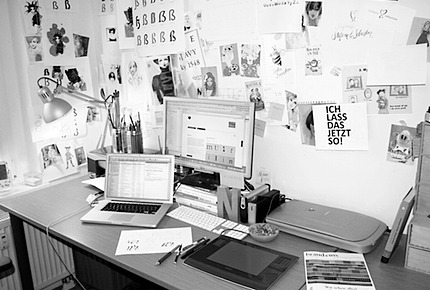 short insight in to Nadine's working place - she's a designer and illustrator