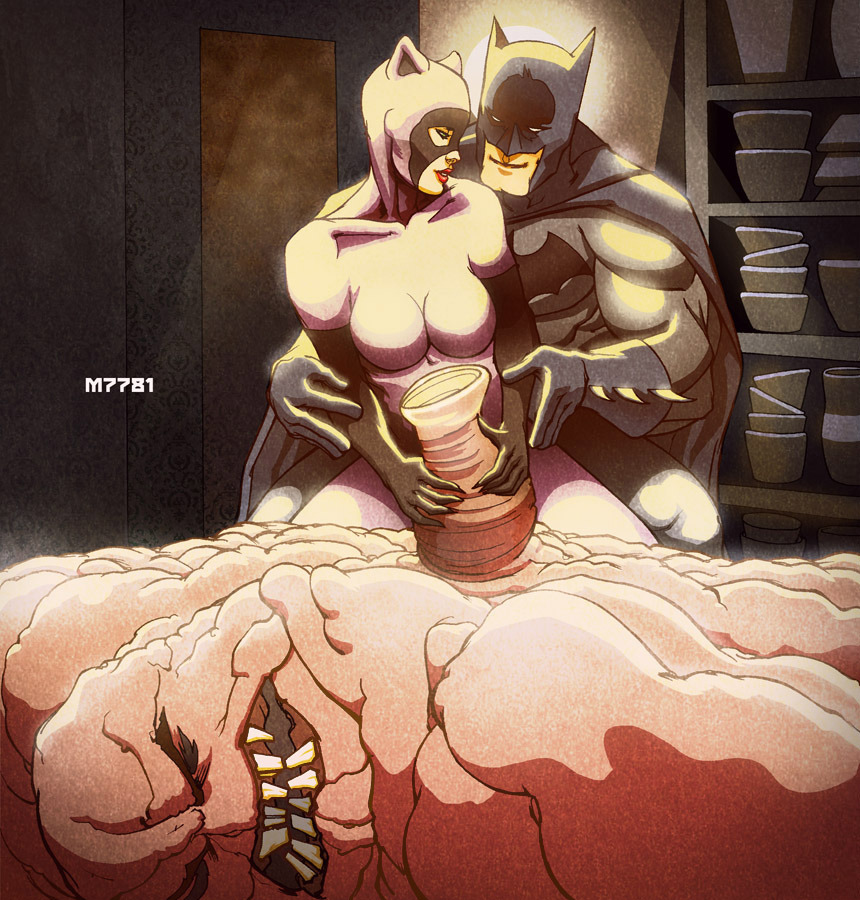 justinrampage:  After pulverizing Clayface, Batman and Catwoman recreate a classic romantic scene from the film Ghost. Hilarious illustration by Marco D'Alfonso. Related Rampages: Mega Mario | Optimus Prime x Krang (More) Batman X Ghost by Marco D'Alfonso (Tumblr) (deviantART) (Twitter)