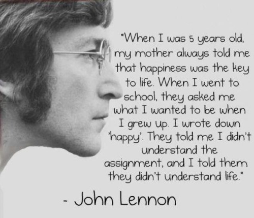 Happiness according to John Lennon