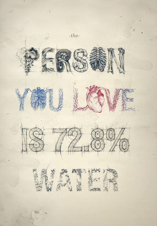 The person you love is 72.8% water.