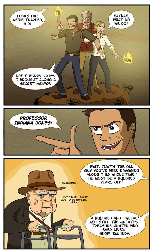 collegehumor:  Uncharted's Newest Character (click to keep reading)  Oh would-be-epic crossover, why are you so hilarious?