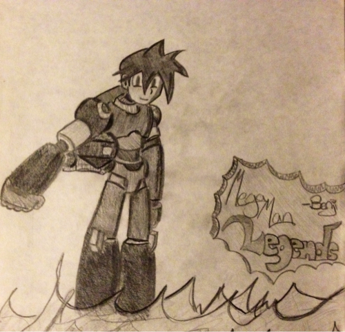Here's another sketch from 1997, the year Mega Man Legends came out. It seems cruel to post this picture after the disappointment with Legends 3 not coming out, but I wanted to share it anyway. I have unfinished business with this game because I made it to the last boss and died. Since I was borrowing the game from a friend, I gave it back before finishing it.  Same thing happened to me with Mega Man X4. I guess I'm not hard core enough. Someday…someday….