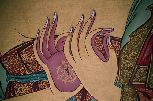 mudra | hand gesture |  detail buddha shakyamuni | devaloka stupa | mindrolling monastery | clementown | ua | india by tim buckley | bodhiimages photography on Flickr.