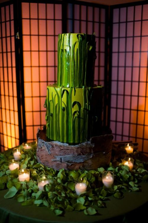 Grass Wedding Cake