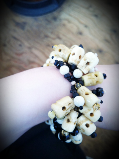 Skull bracelet from camel bone