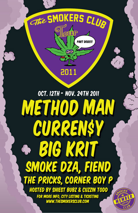 Atlanta stop of The Smokers Club *Part Deux* is THIS Sunday, November 13th at the Masquerade. People PLEASE remember to stay hydrated…Ant and everyone else was passing out at the Jet Life concert lol, and I'm sure this will be just as intense!!! Buy your tix ASAP and get there early!!! I've seen the others perform but I haven't seen Method Man…I bet it's going to be an epic show with him performing all his throwbacks!!!