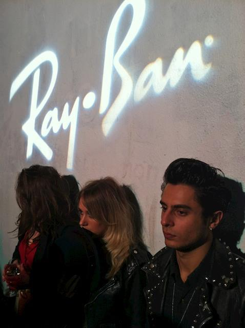 Last night Alice attended Ray Ban's Raw Sound launch event, which took place at Shoreditch's Village Underground which is a fantastic blank canvas space that was transformed into a buzzy, trendy party with Tom Vek playing and Mystery Jets DJing. Guests included Kate Moss' man Jamie Hince, Pixie Geldof, Jaime Winstone and Fazer from NDubz! Above is an image of Alice and co. taken by the great Alistair Guy.