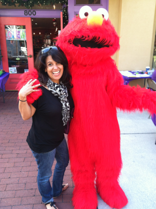 Elmo at my 40's bday party