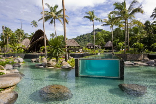 vulpic:  breathingocean:  milevida:  OMG where is this???!!! laucala, fiji! i went swimming here :o  omg  wowow
