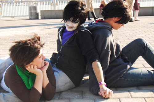Our Four Chords shoot from Youmacon 2011 (this one isn't on DA). We found the Karkat there and took pictures with her and a few others! http://thebetisoff.deviantart.com/