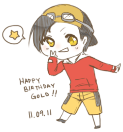 Happy Birthday to Gold-san~!! I hope you had a wonderful day. I LAV YOUUU~~~ u 3u ) <3  110911