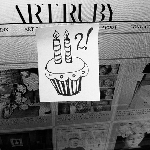 #artruby turns 2 today! #art (Taken with instagram)