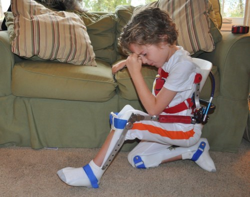 """I may be unable to stand with SMA, but nothing can stop me from Tebowing.  Keep believing.  Keep working hard."" We are inspired by you, thank you for sharing your picture with us!"