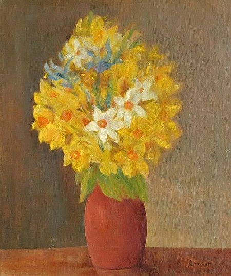 Jacob Kramer Vase of Flowers 20th century