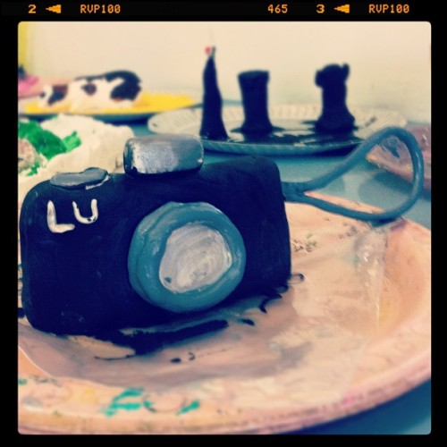 Day 67: Clay Camera from the art room.  #thursday #clay #iphoneonly #nashville #black #instagood #amazingiphoneography  (Taken with Instagram at Beacon School)