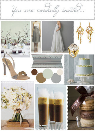 soulweddings:  silver and coffee