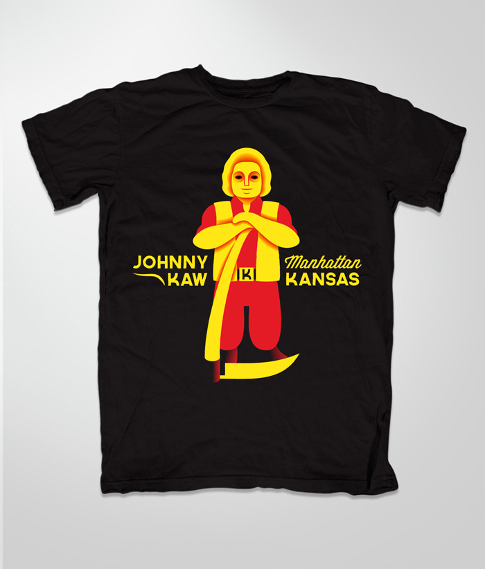Johnny Kaw T-Shirt Illustration