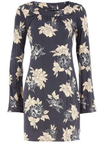 29% Off! Now £20 Grey/Silver Floral Dress by Dorothy PerkinsGrey and silver jersey tube dress with round neck and long sleeves wearing length 90cms. 95 viscose, 5 elastane. Machine washable.More…
