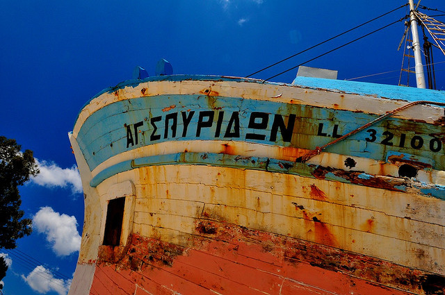 the old boat at laksi beach by allyzally on Flickr.