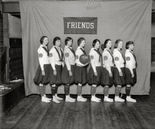ca 1920 Washington, D.C. Friends Select School basketball team; via National Photo Company Collection