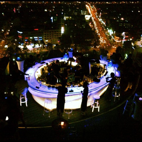 Dinner at the sky bar? Or Hardrock?  (Taken with instagram)
