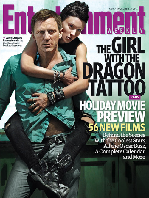entertainmentweekly:    This week's EW cover: Brace yourself for 'The Girl With the Dragon Tattoo.' Plus: The Holiday Movie Preview
