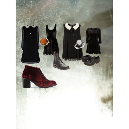 /// by juliebb featuring a velvet dress