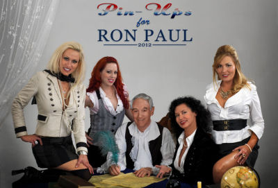 These scantily-clad ladies just love Ron Paul
