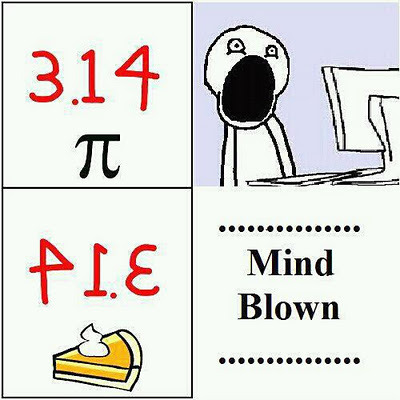 nprchick:  npr:  Mmmmmmm pi. kqedscience:  Mind is officially blown. #pi   Mmmmm!