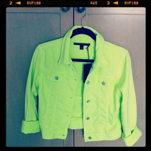 themanrepeller:  Neon Jean jacket is all I'm saying. (Taken with instagram)