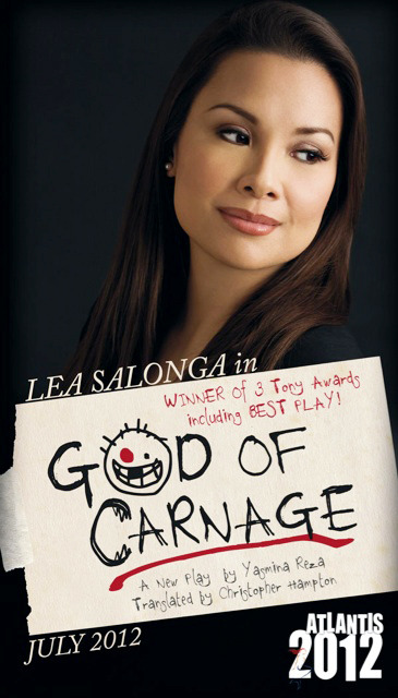 fuckyeahleasalonga:  We are proud to announce the Tony Award Winning Play GOD OF CARNAGE starting Tony Award winner Lea Salonga! -Atlantis Productions