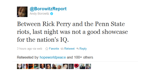 cognitivedissonance:  Andy Borowitz tweets some truth.