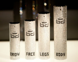 BB Royal's range of opulent anti-aging cosmetics in Swarovski studded bottles
