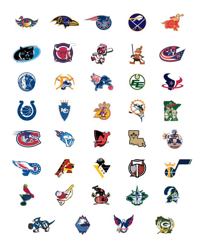 thesochillnetwork:  Every cities sports logos rolled into 1