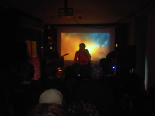 Cave Birds single launch a smash! Last night, Cave Birds played a live set at Oporto in Leeds to support the physical release of their debut single, Some Lightning Thrill. The capacity crowd were treated to 7 tracks, all of which went down well.  There will be a few CDs available in the Plumpton Presents online shop shortly, so keep an eye out for those.  As you can see from the photo above, the visuals to accompany the live show were a real spectacle and you will be able to see it all again in London on Thursday 1st December at The Old Queens Head in Islington. Do not miss it for the world!