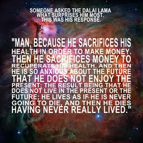 Great quote by His Holiness The Dalai Lama - Someone asked him what surprises him most, and this was his response