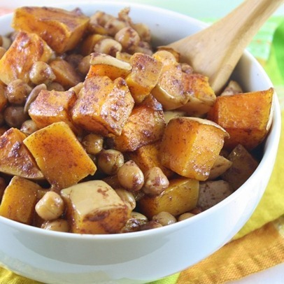 Roasted Maple Cinnamon Chickpeas And Squash