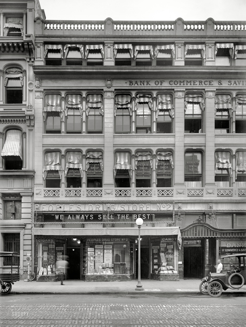 "lostsplendor:  ""We Always Sell The Best"" Washington D.C, c. 1921 (via Shorpy Historical Photo Archive)"