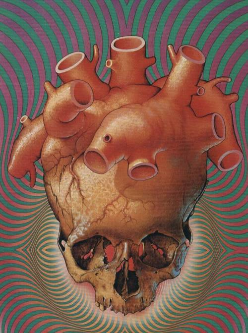 la-peque:  fer1972:  Heart-Skull by Patrick Woodrofe (I'll be posting a lot of his art from another planet!)  reminds me of this by Trevor Brown~!   oh shit i totally thought this was trevor brown's, whoops.  i wonder which was first
